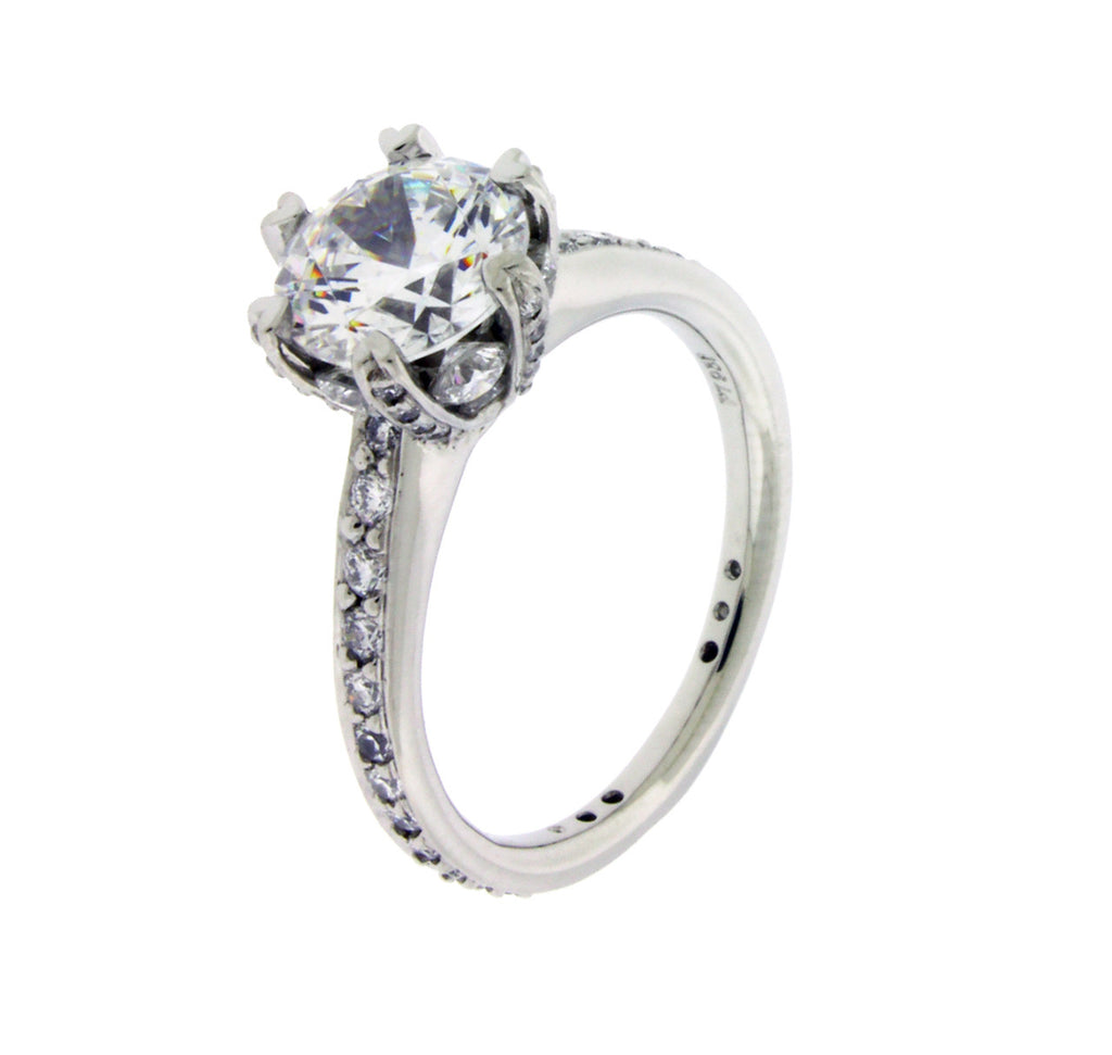 Ritani 1r3269 Pave Set Engagement Ring In Platinum Fits 2