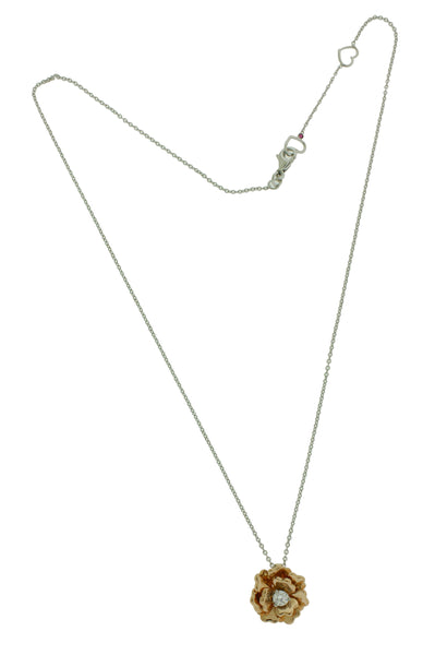 Roberto Coin 18k Rose Gold Diamond And Quartz Pendant Necklace