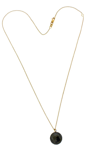 Roberto Coin 18k Rose Gold Diamond & smokey Quartz Pendant Necklace