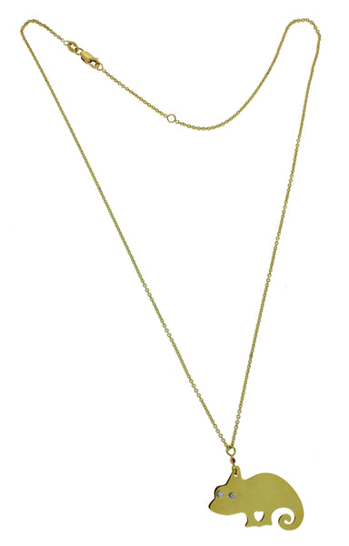 Roberto Coin diamond Chameleon necklace in 18k  yellow gold