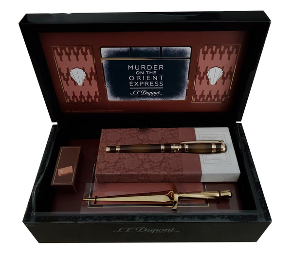 "S.T. DUPONT 412186 Murder on the Orient Express"" Rollerball Pen Set"