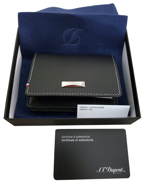 S.T. Dupont 170404  Défi perforated gusseted wallet business card holder