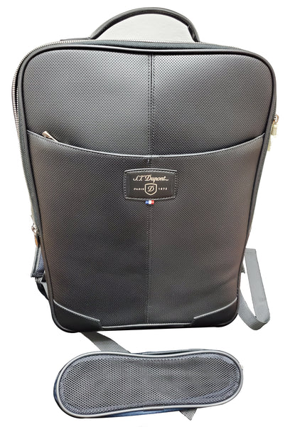 S.T. Dupont 171406 Défi perforated laptop backpack / bag + charger case