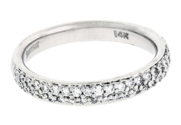 Scott Kay 1606R310 pave diamond wedding band in 14k gold White gold size 6.5