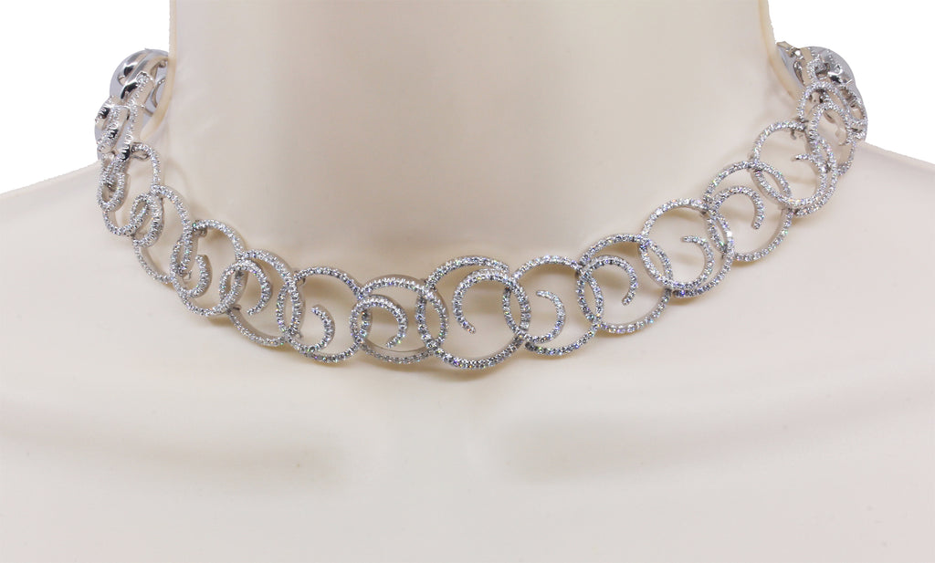 Stefan Hafner 18k white gold diamond necklace Retail $29800