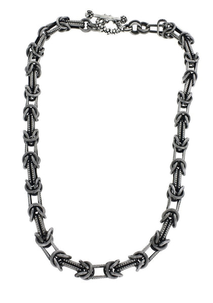 Stephen Dweck heavy chain in sterling silver 17 inches long.