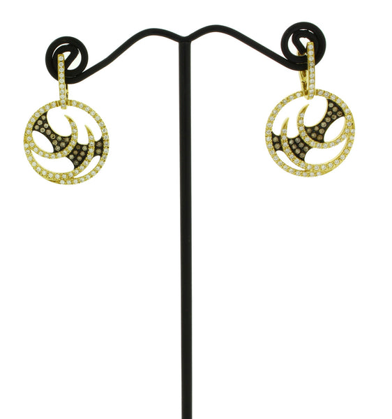 Stephen Webster Vortex diamond Hoop earrings in 18k yellow gold