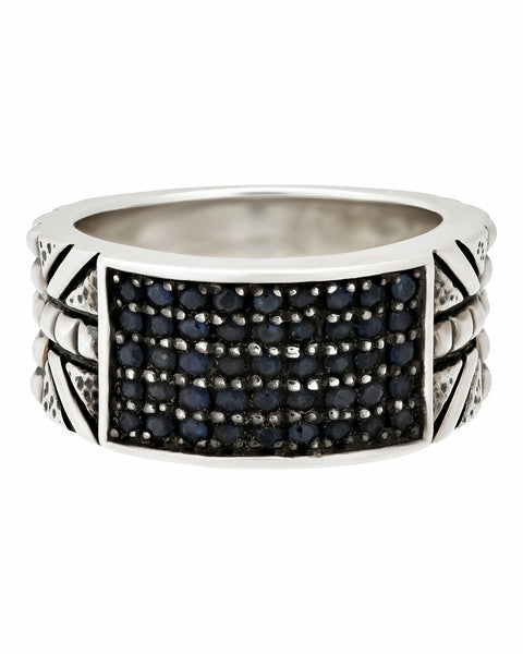 Stephen Webster Alchemy in UK Men's blue sapphire ring in silver size 11