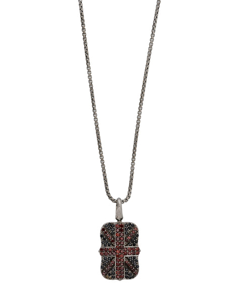 Stephen Webster Alchemy in UK sapphire & garnet Union Jack pendant necklace