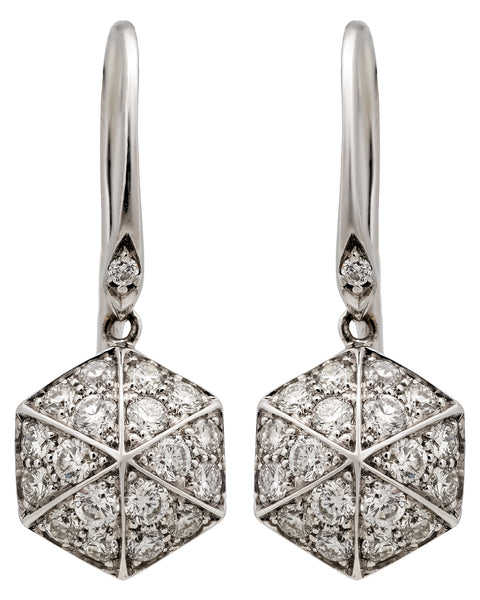 Stephen Webster Deco .66 carats diamond dangle earrings in 18k white gold