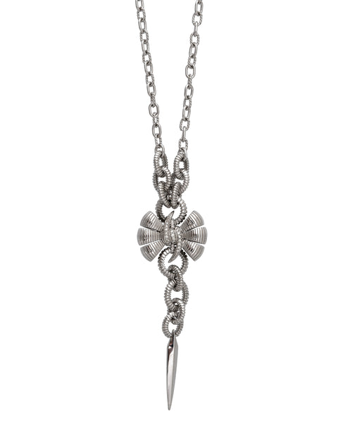 Stephen Webster sterling silver Forget Me Knot diamond Bow necklace