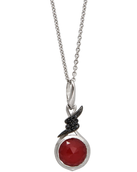 Stephen Webster Forget Me Knot silver sapphire & red crystal haze necklace