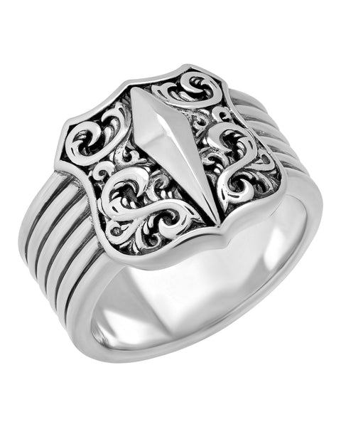 Stephen Webster Highwayman Men's sterling silver Shield ring size 11