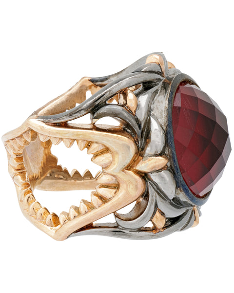 Stephen Webster womens Less Dents De La Mer Shark Jaw Raspberry haze ring