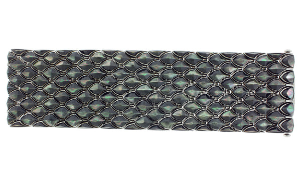 Stephen Webster Superstud 5 row black Mother of pearl inlay bracelet sterling silver