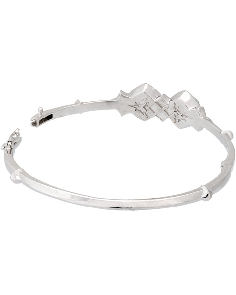 Stephen Webster Superstud crystal haze bangle bracelet in sterling silver size Medium