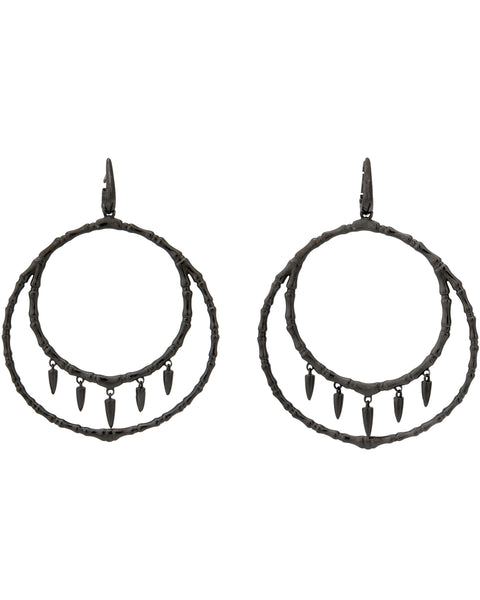 Stephen Webster black sterling Jewels Verne Women's Bone hoop earrings