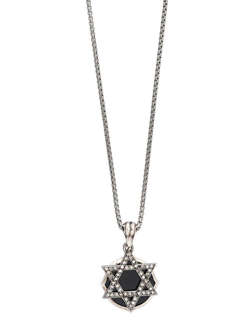 Stephen Webster diamond Jewish Star double plate pendant in sterling silver