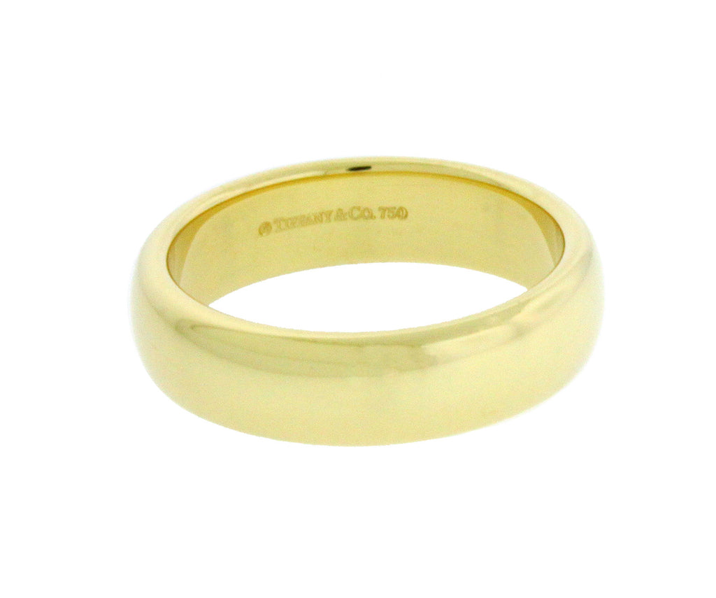 TIFFANY & CO 5 mm wide wedding band Ring In 18K Yellow Gold Size 10
