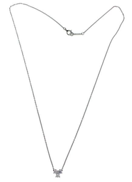TIFFANY & CO Aria pendant of diamond necklace in platinum