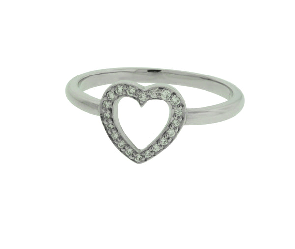 TIFFANY & CO diamond heart ring in platinum size 6.5