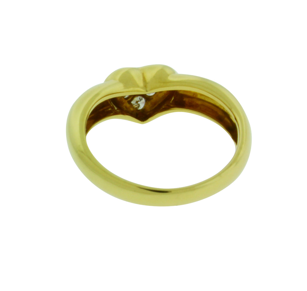 59a174c37 ... TIFFANY & CO pave diamond heart ring in 18k yellow gold size ...