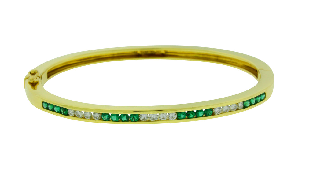 diamond yellow bangle roberto bracelet metallic lyst jewelry coin in appassionata bangles gold
