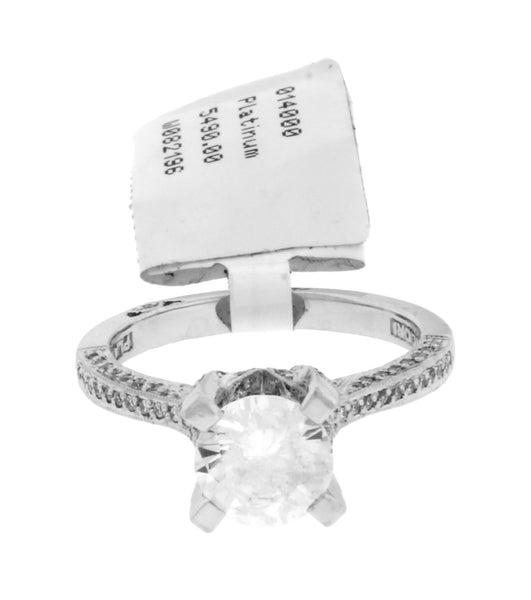 Tacori 2561 RD 7 .30 carat diamond Engagement ring in Platinum fits 1.25 carat round