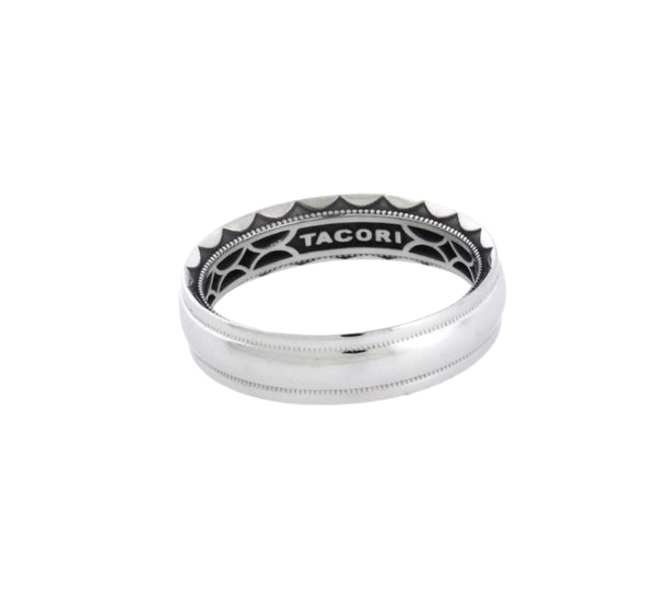 Tacori 5mm Sculpted Crescent wedding band in platinum size 8