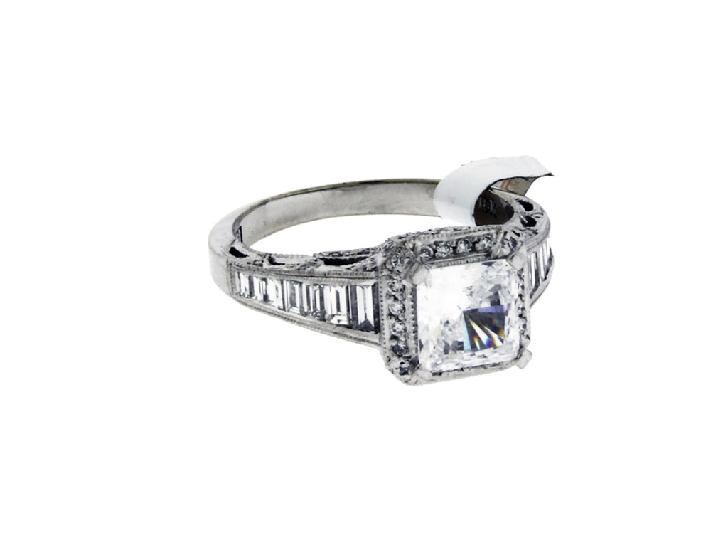 Tacori HT253 SMPR platinum diamond engagement ring fits 1ct diamond size 6.25