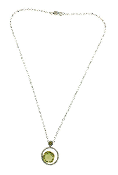 Tacori SN141Y10 pendant with Olive quartz in 18k gold and silver.