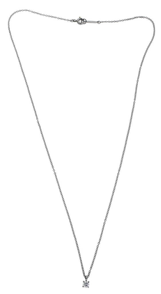Tiffany 12 carat diamond solitaire necklace pendant in platinum 16 tiffany 12 carat diamond solitaire necklace pendant in platinum 16 inches long aloadofball Images
