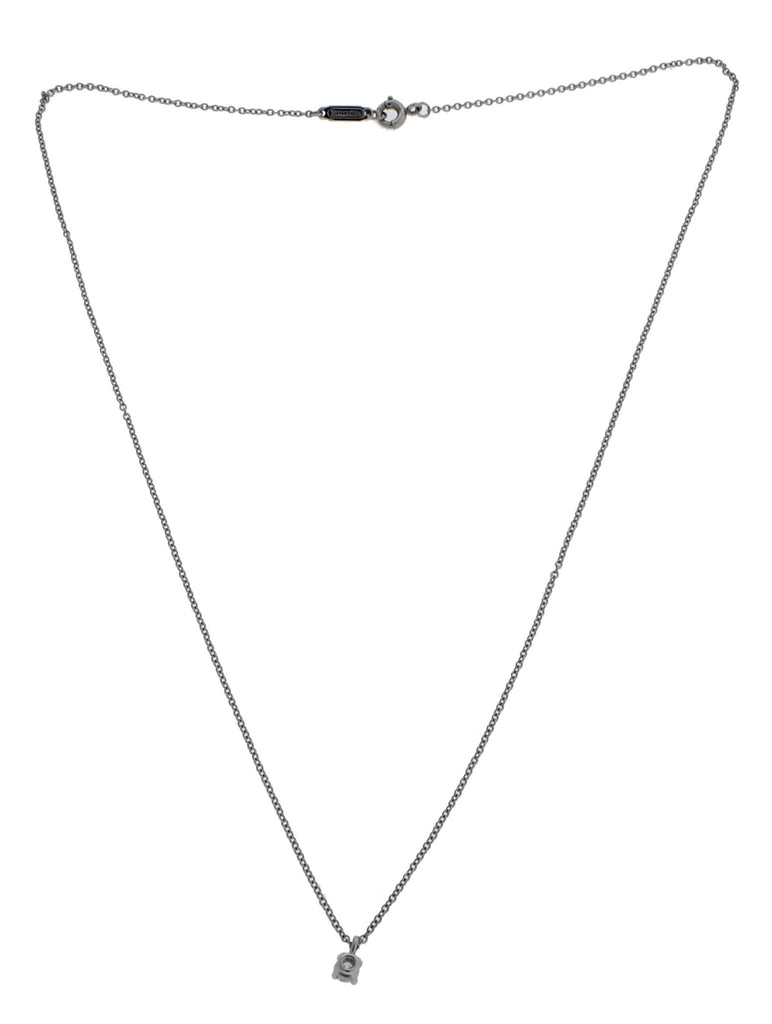 Tiffany 12 carat diamond solitaire necklace pendant in platinum 16 tiffany 12 carat diamond solitaire necklace pendant in platinum 16 inches long aloadofball