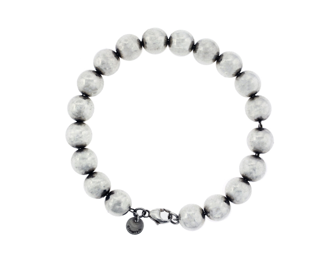 208566abc Tiffany & Co Bead Ball bracelet in sterling silver used 7.5 inches – JEWELRY  BY DAVID   FINE JEWELRY & ACCESSORIES