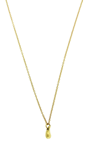 Tiffany & Co Elsa Peretti small Teardrop necklace in 18k