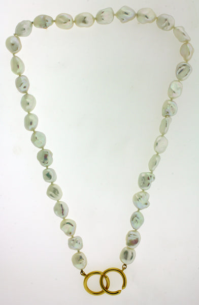 Tiffany & Co Paloma Picasso pearl necklace in 18k gold 17.5 inches long