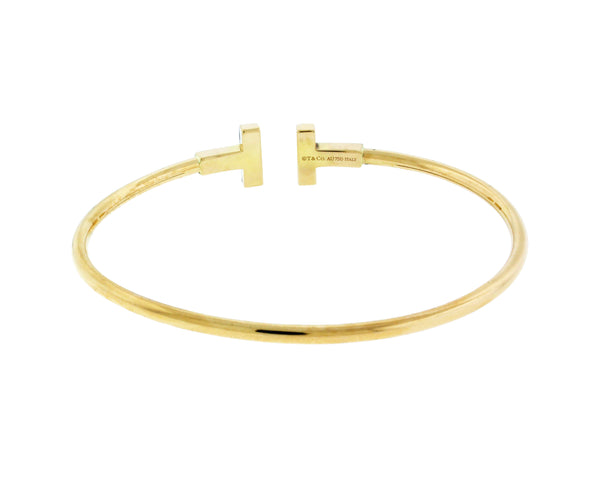Tiffany & Co T wire bracelet bangle in 18k yellow Gold size M