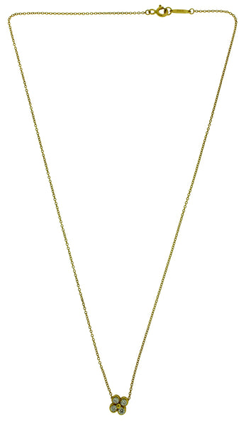 Tiffany & Co diamond Necklace in 18k yellow gold 16 inches long