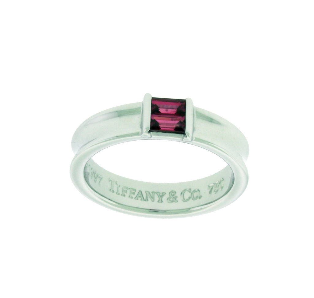 af75d8e15 Tiffany & Co pink sapphire Women's band Ring In 18k white Gold Size 6. –  JEWELRY BY DAVID   FINE JEWELRY & ACCESSORIES