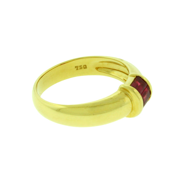 Tiffany & Co ruby Women's Ring In 18k yellow Gold Authentic Size 6