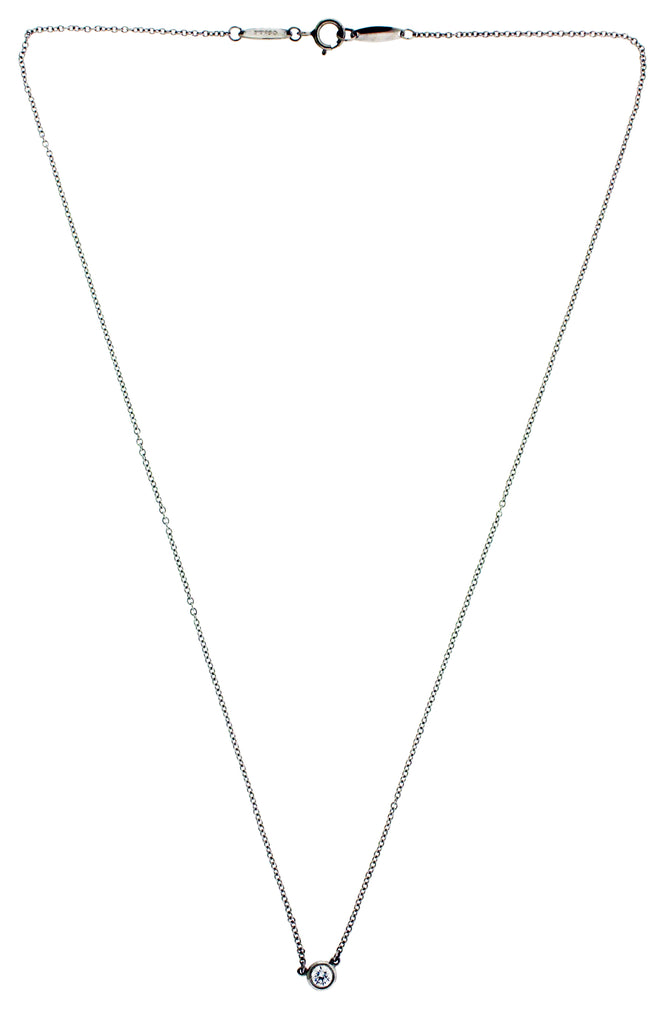 Tiffany elsa peretti 12 carat diamond by the yard solitaire tiffany elsa peretti 12 carat diamond by the yard solitaire necklace platinum aloadofball