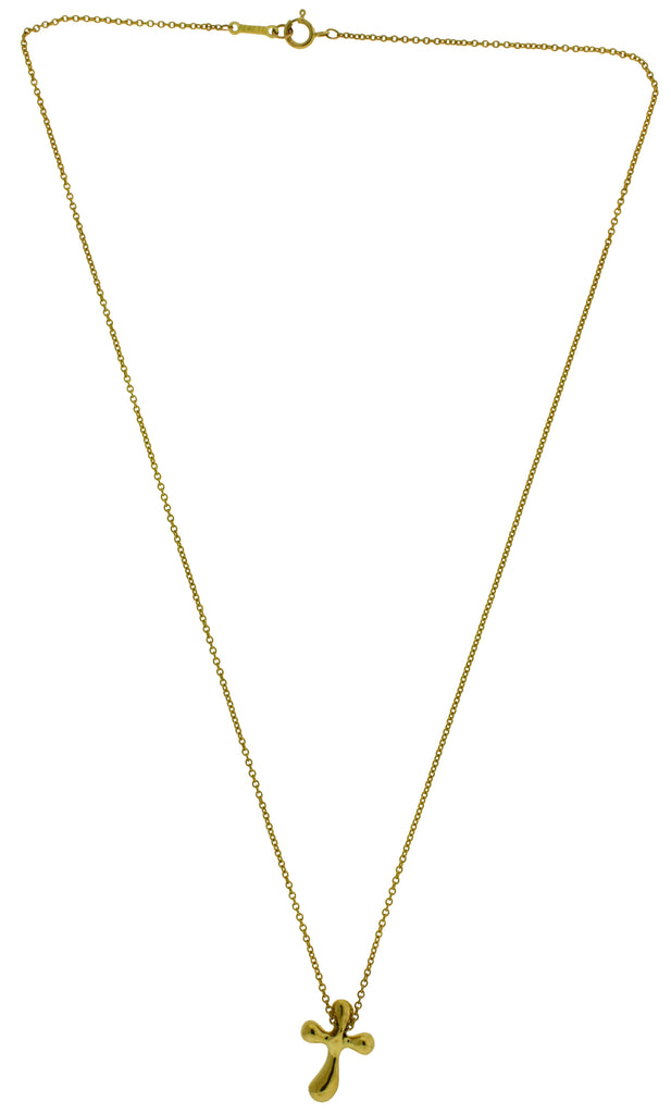 ceed2dce3700d Tiffany Elsa Peretti small cross necklace in 18k yellow gold