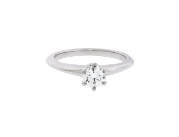 Tiffany platinum .39 carat XXX VS2-H solitaire engagement ring size 4.5 w cert