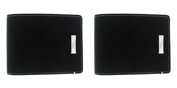 2 x S.T. Dupont 170401DC  Défi perforated 6 card black leather wallet