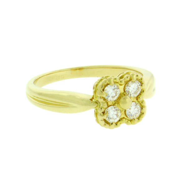 Van Cleef & Arpels diamond Alhambra ring in 18k gold  in good condition size 6
