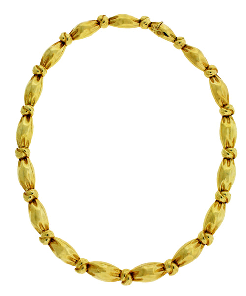 Van Cleef & Arpels heavy necklace in 18k yellow gold in good condition