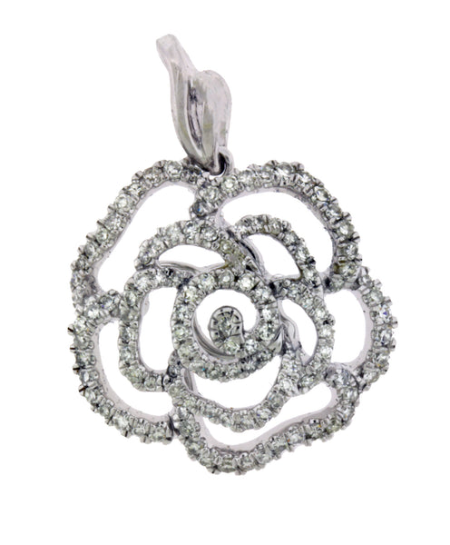 Vera Wang Love collection 1/2 CT diamond rose pendant in 14k white gold