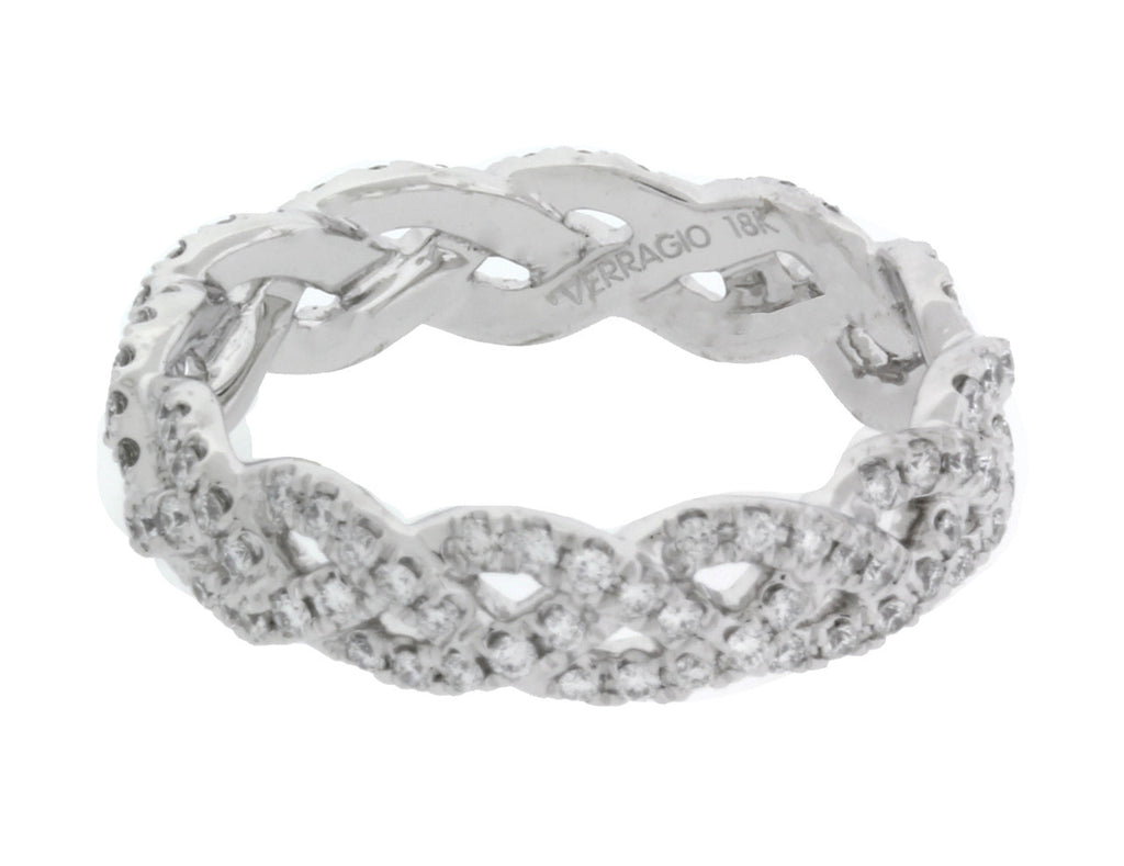 Verragio Eterna 4023 diamond Women's Eternity Band In 18k white gold Size 6.25