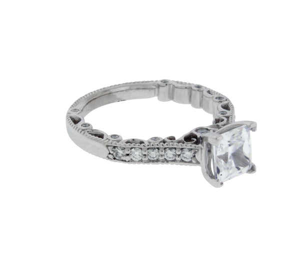 Verragio Paradiso 3076P 18k diamond engagement ring fits princess cut