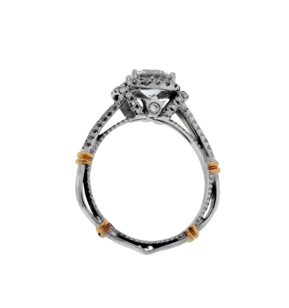 Verragio Parisian 117R diamond halo engagement ring in white gold